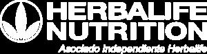 Logo Herbalife Nutrition - Asociado Independiente Herbalife - blanco