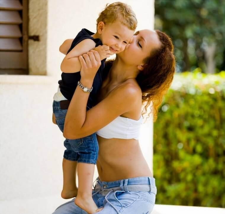 ser una mamá delgada